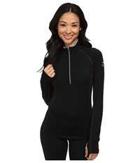 Icebreaker Zone Long Sleeve Half Zip Black Mineral Mineral Women's Workout