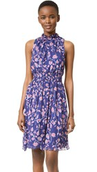Rebecca Taylor Sleeveless Kyoto Smock Dress Ink Blue