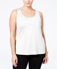 Charter Club Plus Size Tank Top White