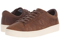 Fred Perry Spencer Waxed Leather Oak Tan Men's Lace Up Casual Shoes Beige