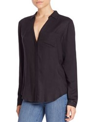 Paige Everleigh Button Front Blouse Black