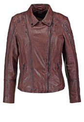 Gipsy Neni Leather Jacket Middle Brown Black