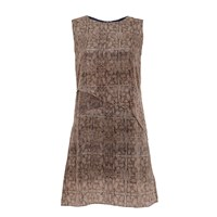 Lulu Hayes Reptilian Layer Dress Blue Grey Silver