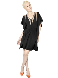 Vionnet Viscose Knit Jersey Dress Black
