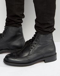 G Star Guard Lace Up Leather Boots Black