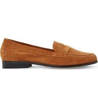Dune Gaby Suede Penny Loafers Tan Suede
