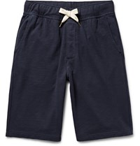Alex Mill Garment Dyed Loopback Cotton Jersey Shorts Blue