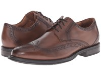 Nunn Bush Ryan Wing Tip Oxford Chestnut Men's Lace Up Wing Tip Shoes Brown