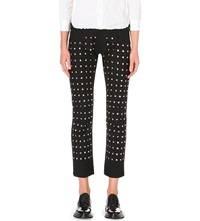 Junya Watanabe Studded Wool Stretch Trousers Blk