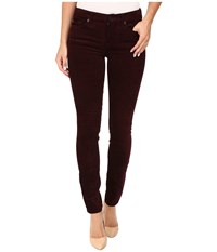 7 For All Mankind The Skinny Cord In Merlot Merlot Women's Jeans Red