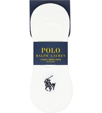 Ralph Lauren No Show Dress Liners Triple Pack White