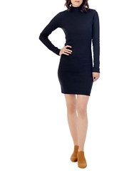 Alternative Apparel Solid Long Sleeve Uptown Dress Black