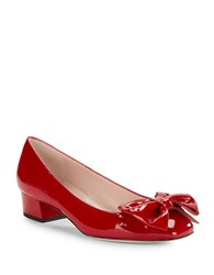 Kate Spade Molly Bow Accent Patent Leather Heels Poppy Red