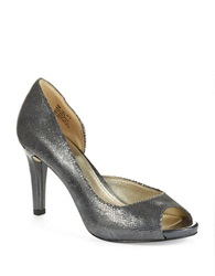 Anne Klein Octavie Peep Toe Pumps Pewter