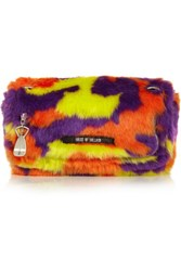 House Of Holland Sausage Roll Faux Fur Shoulder Bag Purple