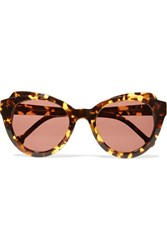 Preen Knightsbridge D Frame Acetate Sunglasses Animal Print