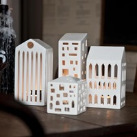Urbania Candleholder Small City House Kahler