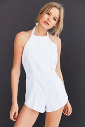 Sir The Label Liv Halter Romper White