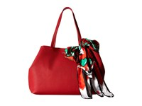 Love Moschino Animal Scarf Tote Fox Red Tote Handbags