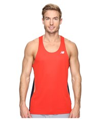 New Balance Nb Ice Singlet Atomic Galaxy Men's Sleeveless Red