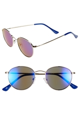 Cole Haan 51Mm Round Sunglasses Gold Blue