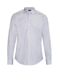 Lanvin Micro Pencil Stripe Cotton Poplin Shirt