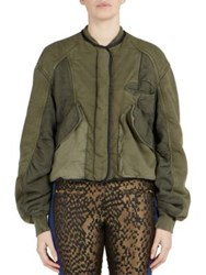 Haider Ackermann Long Sleeve Cotton Jacket Army