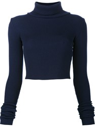 Jacquemus 'La Maille' Roll Neck Jumper Blue