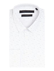 Kenneth Cole Jacob Slim Fit Spot Print Shirt White