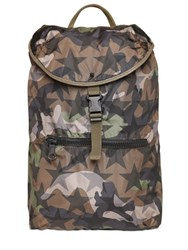 Valentino Camustars Printed Nylon Backpack