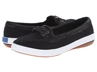 Keds Glimmer Boat Black Textile Women's Lace Up Casual Shoes
