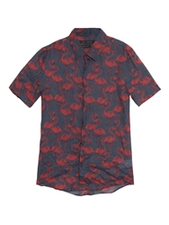 Marc Jacobs Flamingo Print Ramie Shirt