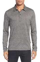Billy Reid Men's 'Smith' Long Sleeve Polo Natural