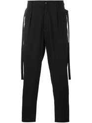 Damir Doma Straps Detail Loose Fit Trousers Black