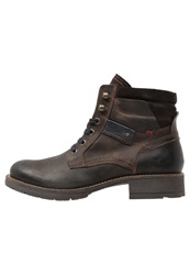 Tom Tailor Laceup Boots Mokka Dark Brown