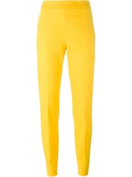 Moschino Slim Fit Trousers Yellow And Orange