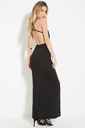 Forever 21 High Slit Cami Maxi Dress Black