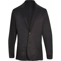 River Island Mens Black Poplin Slim Blazer