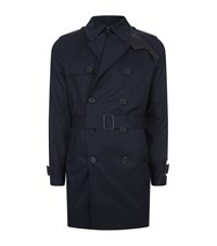Sandro Cotton Trench Male Blue