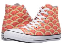 Converse Chuck Taylor All Star Fruit Slices Graphic Hi Orange White Black Lace Up Casual Shoes