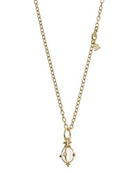Temple St. Clair 18K Classic Amulet Pendant With Oval Rock Crystal And Diamond Clear Gold