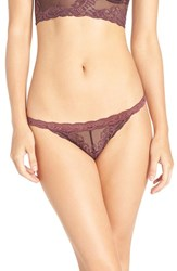 Natori Women's 'Feathers' Thong Merlot