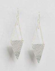 Made Triangle Drop Earrings Silver