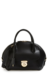 Salvatore Ferragamo 'Vivette' Leather Dome Satchel Nero