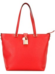 Dolce And Gabbana 'Dolce' Shopper Tote Red