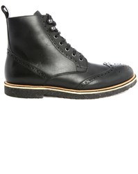Paul And Joe Ipster Black Perforated Toe Boots