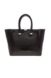 Victoria Beckham Liberty Printed Crocodile Tote In Black Animal Print