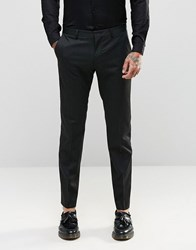 Asos Slim Suit Trousers In Pinstripe Black