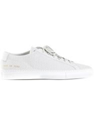 Common Projects Perforated Sneakers White