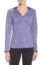 Under Armour Women's 'Tech Twist' Split Neck Hoodie Grape Fusion Metallic Silver
